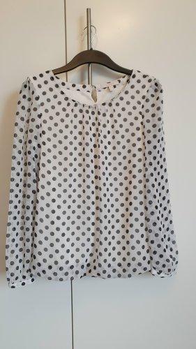 Esprit Bluse Größe 36 weiß schwarze Punkte