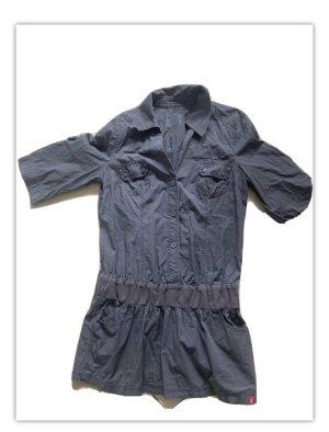 Esprit Bluse Kleid Hemd Gr. XL dunkelgrau grün navy