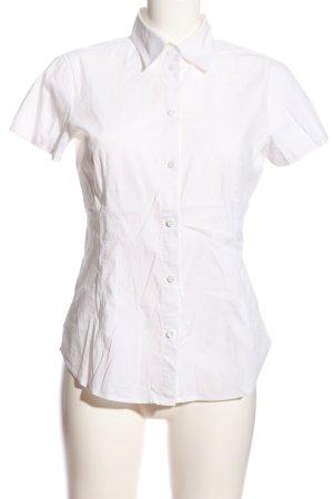 Esprit Kołnierzyk koszulowy biały Tkanina z mieszanych włókien