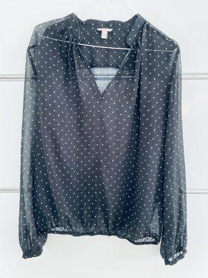 edc by Esprit Blusa transparente negro-blanco