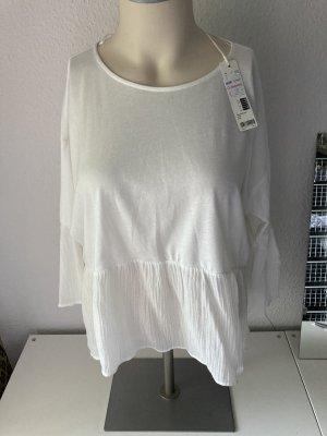 Esprit Bluzka z falbankami biały-w kolorze białej wełny