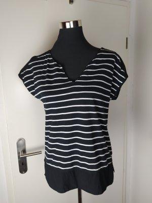 ESPRIT Blusen Shirt schwarz-weiß Gr. S