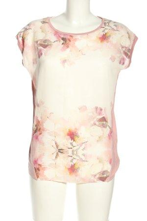 Esprit Empiècement de blouses rose-gris clair imprimé allover