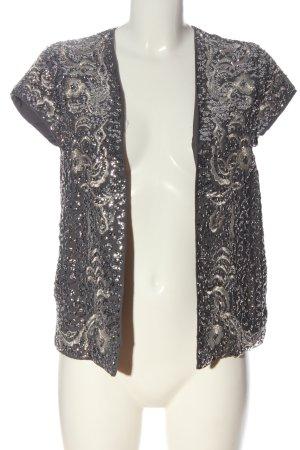 Esprit Blouse Jacket brown-natural white allover print elegant