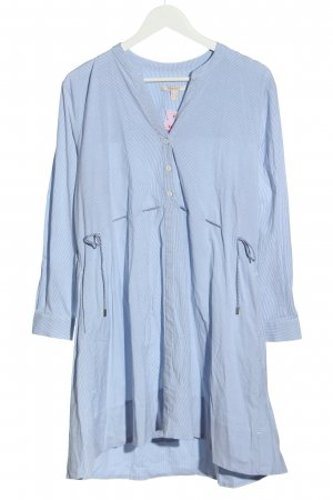 Esprit Blusenkleid blau-weiß Streifenmuster Casual-Look