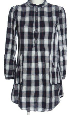 Esprit Blusenkleid schwarz-weiß Allover-Druck Casual-Look