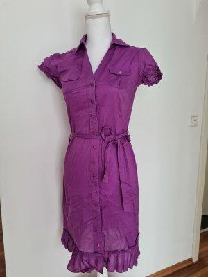 Esprit Blusenkleid Kleid Sommerkleid in lila Gr. 36