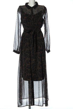 Esprit Blusenkleid schwarz-braun Punktemuster Elegant