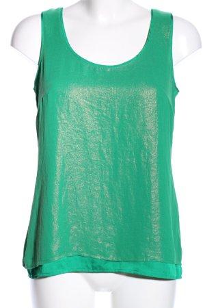 Esprit Blusentop grün-goldfarben meliert Casual-Look