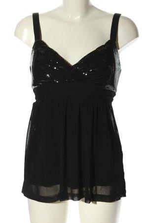 Esprit Top koszulowy czarny Z połyskiem