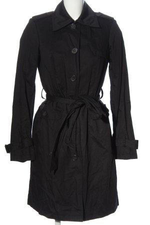 Esprit Długi płaszcz czarny W stylu casual