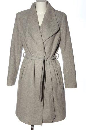 Esprit Długi płaszcz jasnoszary Melanżowy W stylu casual