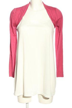 Esprit Bolero pink-weiß Casual-Look