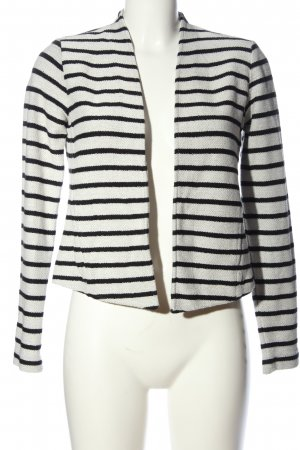 Esprit Bolero weiß-schwarz Streifenmuster Casual-Look