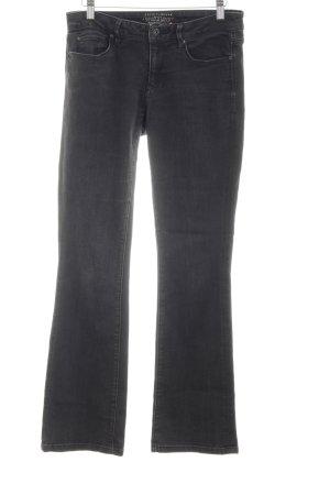 Esprit Boot Cut Jeans schwarz-silberfarben Casual-Look