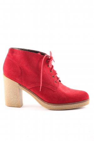 Esprit Booties rot-creme Casual-Look