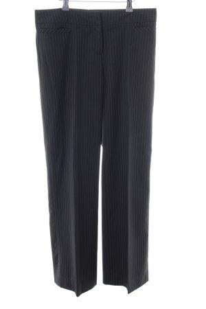 Esprit Bundfaltenhose schwarz-weiß Streifenmuster Casual-Look