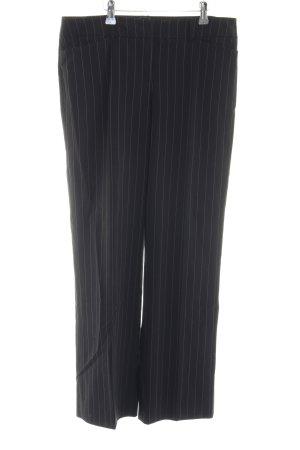 Esprit Bundfaltenhose schwarz Streifenmuster Business-Look