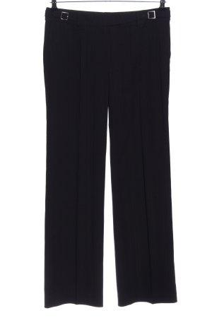 Esprit Pantalone a pieghe nero motivo a righe stile professionale