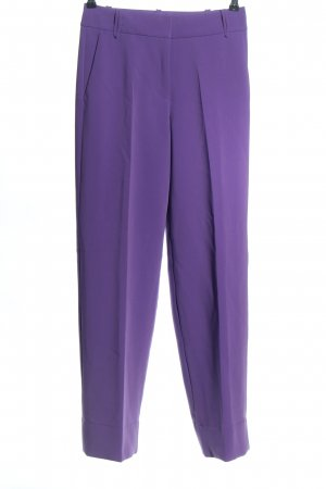 Esprit Bundfaltenhose lila Business-Look