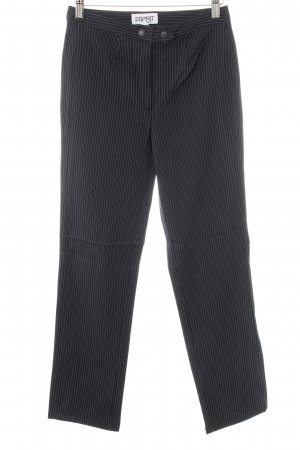 Esprit Bundfaltenhose dunkelblau-weiß Business-Look