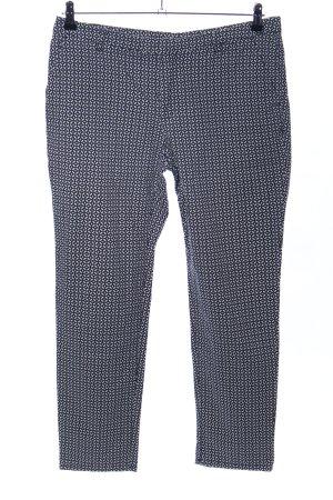Esprit Bundfaltenhose schwarz-weiß Allover-Druck Business-Look