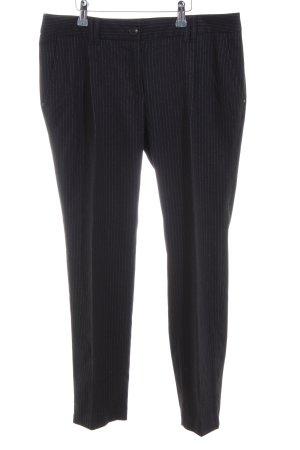 Esprit Bundfaltenhose schwarz-weiß Streifenmuster Business-Look