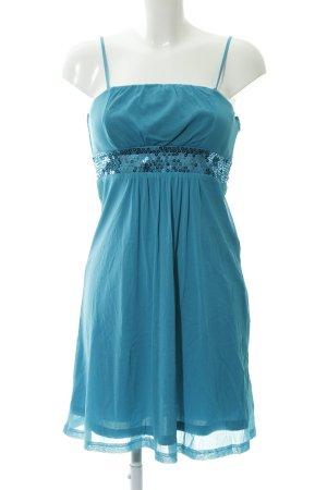 Esprit Vestido bustier azul cadete estilo fiesta
