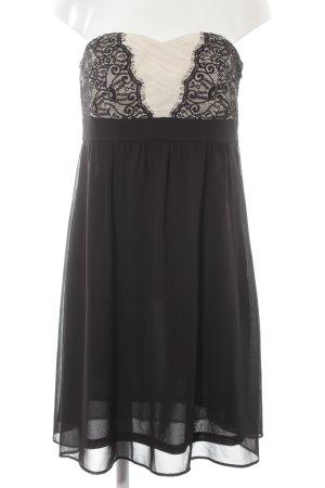Esprit Bustierkleid schwarz-creme Elegant
