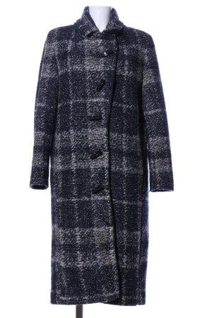 Esprit Heavy Pea Coat black-light grey check pattern business style