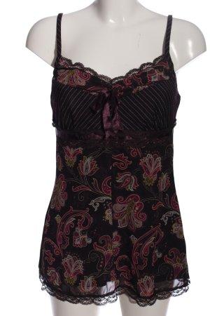 Esprit Camisole zwart-roze volledige print extravagante stijl