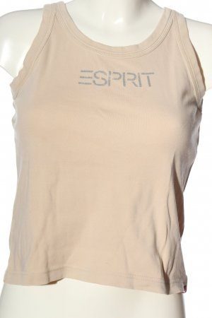 Esprit Camisoles cream-silver-colored printed lettering casual look