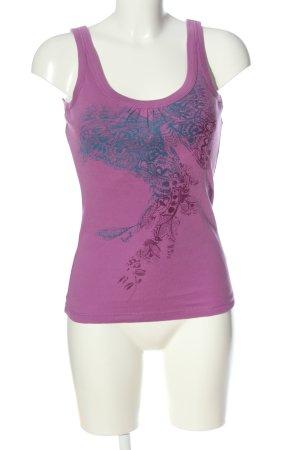 Esprit Camisole rose-bleu imprimé avec thème style décontracté