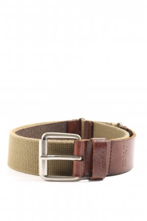 Esprit Canvas Belt brown-natural white casual look