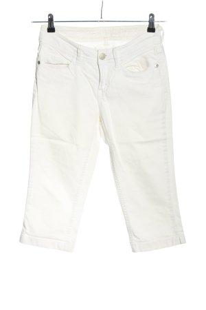 Esprit Spodnie Capri biały W stylu casual