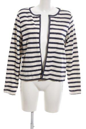 Esprit Cardigan schwarz-weiß Streifenmuster Business-Look