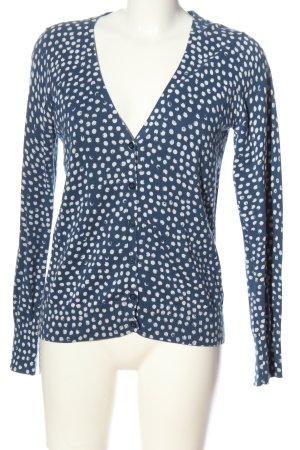 Esprit Cardigan blau-weiß Allover-Druck Casual-Look