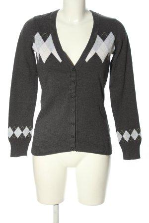 Esprit Cardigan hellgrau-weiß grafisches Muster Casual-Look