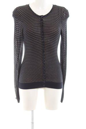 Esprit Cardigan schwarz-wollweiß Allover-Druck Casual-Look