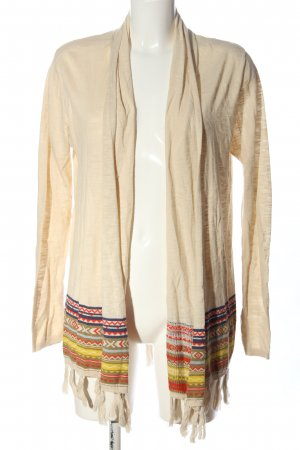 Esprit Cardigan creme grafisches Muster Casual-Look