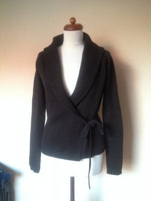 Esprit Knitted Wrap Cardigan brown-black brown