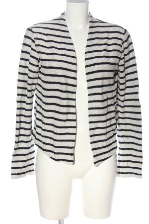 Esprit Cardigan weiß-schwarz Streifenmuster Casual-Look
