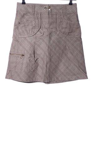 Esprit Spódnica militarna brązowy-w kolorze białej wełny Wzór w kratkę