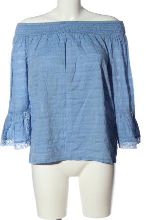 Esprit Carmen-Bluse blau Streifenmuster Casual-Look
