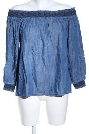 Esprit Blusa alla Carmen blu puntinato stile casual