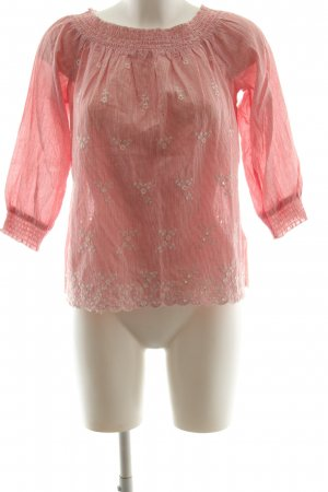 Esprit Carmen-Bluse rot-weiß Animalmuster Business-Look