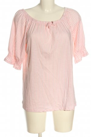 Esprit Carmenshirt pink-weiß Allover-Druck Casual-Look