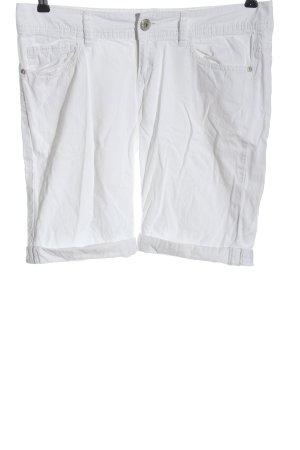Esprit Casual Denim Bermudy biały W stylu casual