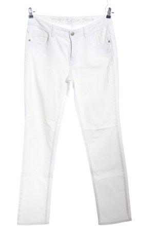 Esprit Casual Denim Vijfzaksbroek wit casual uitstraling