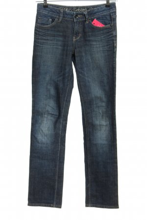 Esprit Casual Denim Low Rise jeans blauw casual uitstraling
